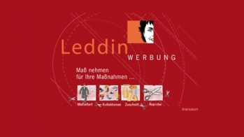 Homepage der Leddin. Werbung GmbH